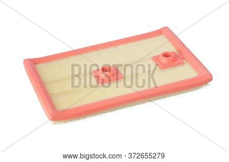 Rectangular Air Filter, Side View, Isolated On White Background