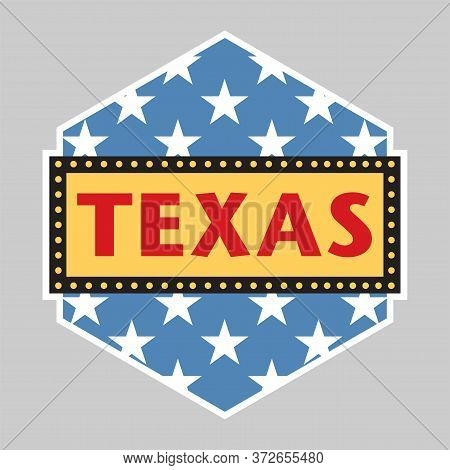 Texas State Sign Or Badge, Vector Illustration