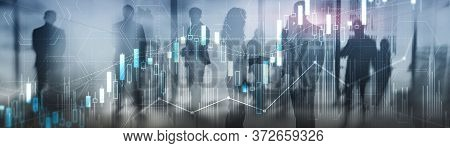 Silhouettes Of Traders On Stock Market. 2020 Finance