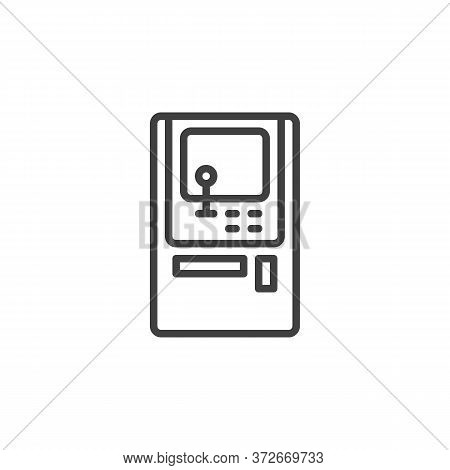 Arcade Game Machine Line Icon. Linear Style Sign For Mobile Concept And Web Design. Arcade Video Gam