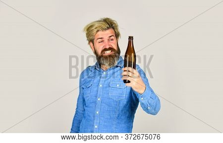 Man With Tousled Hair Looks Unhealthy. Hangover Syndrome. Drunk Man. Alcoholic Guy. Alcoholism Probl