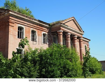 Rosenheim Church In The Village Of Podstepnoye In The Classical Style. German Culture Of The Volga R