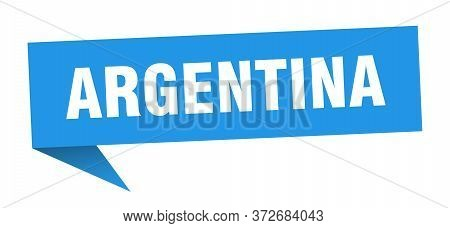 Argentina Sticker. Blue Argentina Signpost Pointer Sign