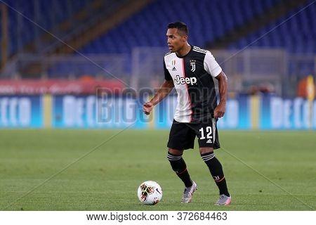 Roma. Italy. 17th June 2020. Italian Cup Final. Ssc Napoli Vs Juventus Fc .   Alex Sandro  Of Juvent