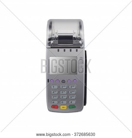 Mockup Credit Card Reader Isolated On White Background