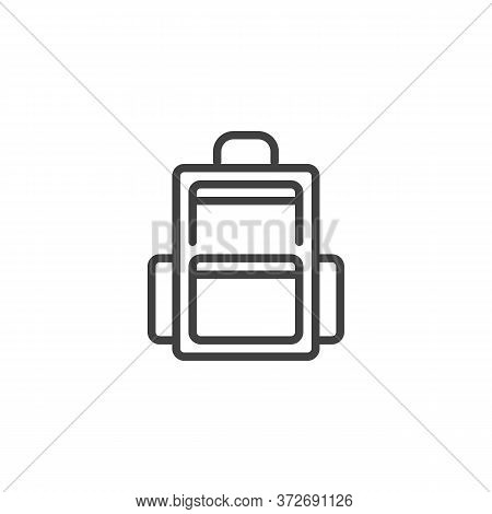 Haversack, Rucksack Line Icon. Linear Style Sign For Mobile Concept And Web Design. Backpack, Knapsa