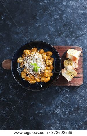 Plant-based Food, Vegan Red Pesto Gnocchi With Dairy-free Cheese Topping