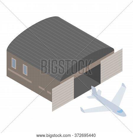 Passenger Airliner Icon. Isometric Illustration Of Passenger Airliner Vector Icon For Web