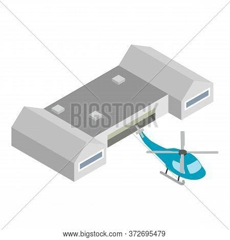 Passenger Helicopter Icon. Isometric Illustration Of Passenger Helicopter Vector Icon For Web