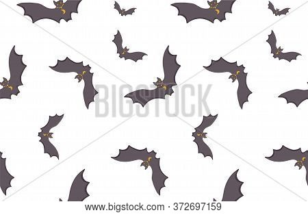 Vector Pattern Of The Symbols Of The Occult. The Texture Of The Bats. Print On Factory Textiles Isol