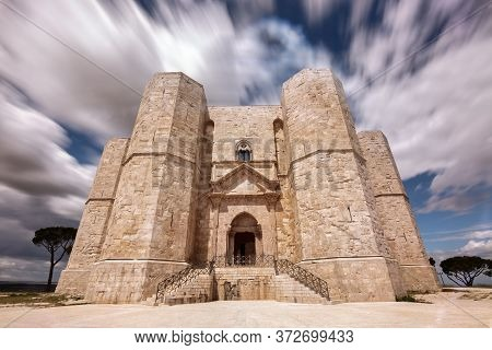 Castel Del Monte Is A 13th-century Citadel And Castle Situated On A Hill In Andria In The Apulia Reg
