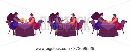 Mystical Illustration Showing Fortune Telling On A Crystal Ball, Fortune Telling On Cards, Palmistry
