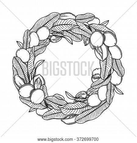 Graphic Shea Wreath Isolated On White Background