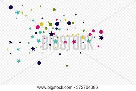 Orange Polka Carnaval Transparent Background. Effect Confetti Pattern. Top Shine Illustration. Yello
