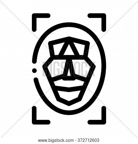 Human Profile Information Icon Vector. Human Profile Information Sign. Isolated Contour Symbol Illus