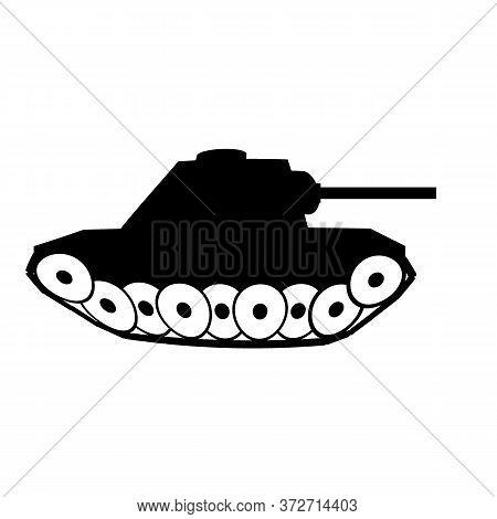 Panzer Symbol Icon On White Background. Illustration.