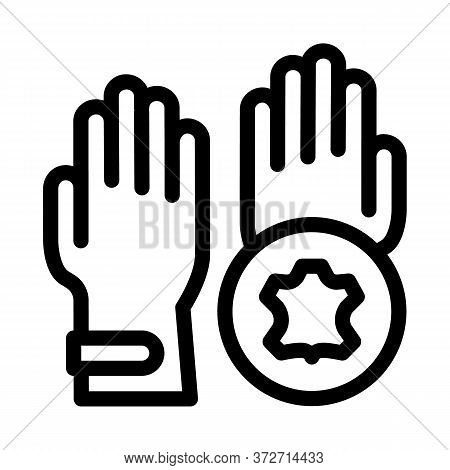 Leather Gloves Icon Vector. Leather Gloves Sign. Isolated Contour Symbol Illustration