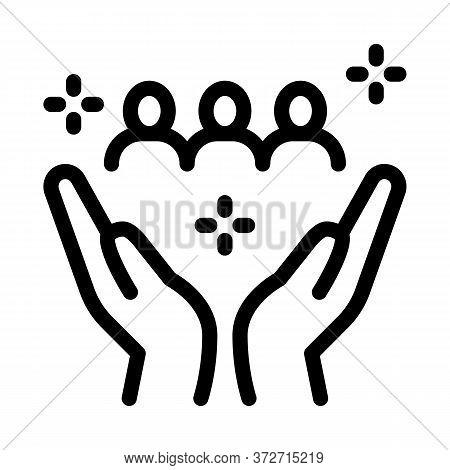 Interracial Idyllic Icon Vector. Interracial Idyllic Sign. Isolated Contour Symbol Illustration