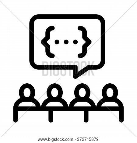 Audience Expresses An Opinion Icon Vector. Audience Expresses An Opinion Sign. Isolated Contour Symb