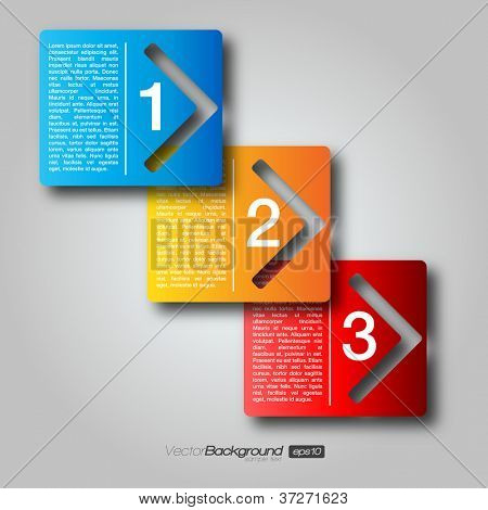 Next Step Arrow Boxes | EPS10 Vector Design