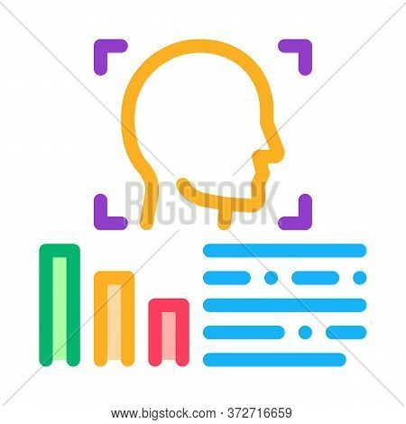 Human Profile Information Icon Vector. Human Profile Information Sign. Color Symbol Illustration