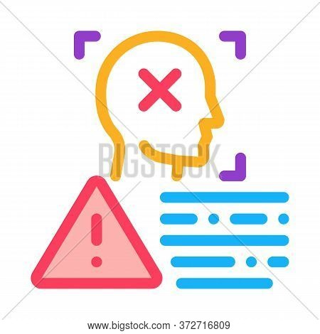 Deepfake Human Profile Icon Vector. Deepfake Human Profile Sign. Color Symbol Illustration