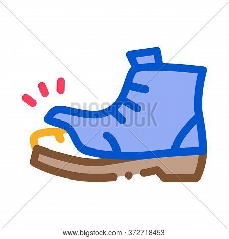Homeless Torn Boot Icon Vector. Homeless Torn Boot Sign. Color Symbol Illustration