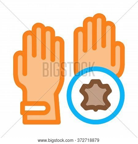 Leather Gloves Icon Vector. Leather Gloves Sign. Color Symbol Illustration