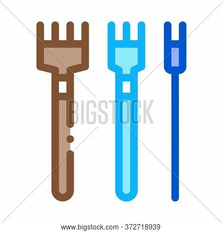 Leatherworking Crafting Tools Icon Vector. Leatherworking Crafting Tools Sign. Color Symbol Illustra