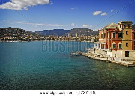 Rapallo Harbor From The Break Wall