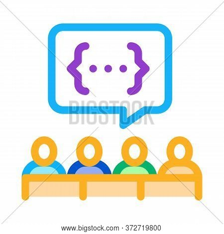 Audience Expresses An Opinion Icon Vector. Audience Expresses An Opinion Sign. Color Symbol Illustra