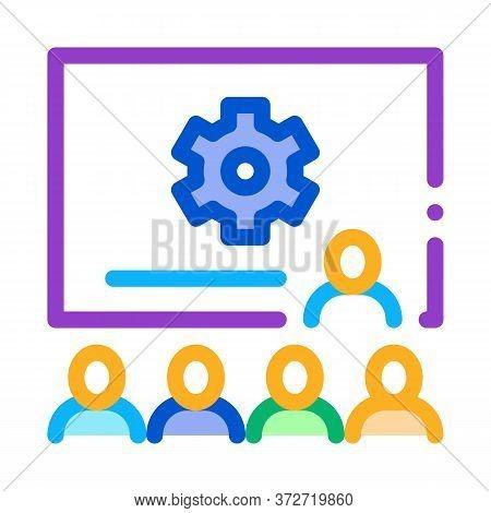 Presentation Blackboard Icon Vector. Presentation Blackboard Sign. Color Symbol Illustration