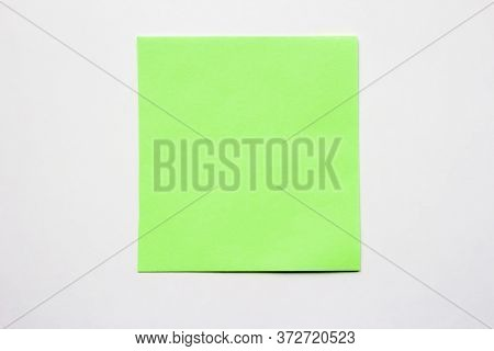 Green Note On A White Sticky Note, Carved, Single, Sticky, Notepad