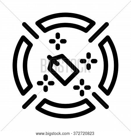 Label Target Aim Icon Vector. Label Target Aim Sign. Isolated Contour Symbol Illustration