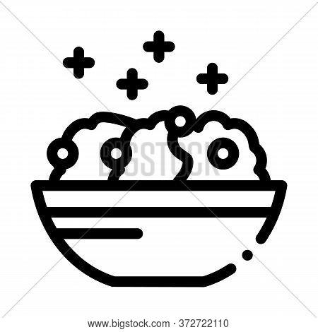 Porridge Dish Icon Vector. Porridge Dish Sign. Isolated Contour Symbol Illustration
