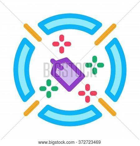 Label Target Aim Icon Vector. Label Target Aim Sign. Color Symbol Illustration