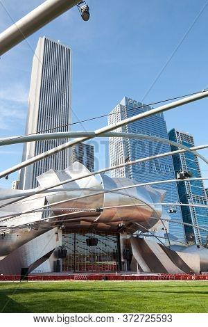 Chicago, Illinois, United States - May 04, 2011: Jay Pritzker Pavillion Designed By Architect Frank