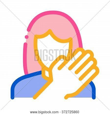 Hit Woman Icon Vector. Hit Woman Sign. Color Symbol Illustration