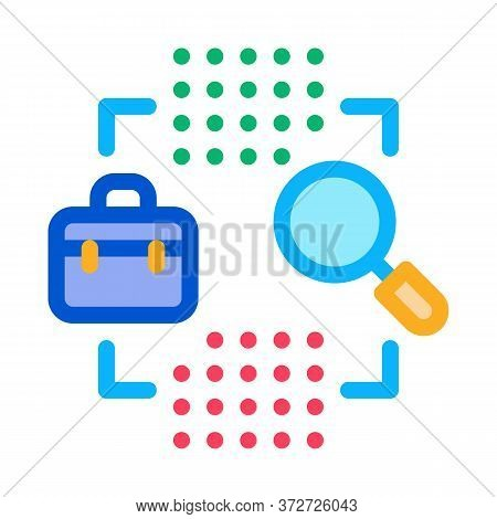 Business Case Research Icon Vector. Business Case Research Sign. Color Symbol Illustration