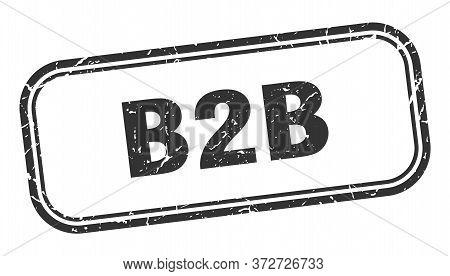 B2b Stamp. B2b Square Grunge Black Sign