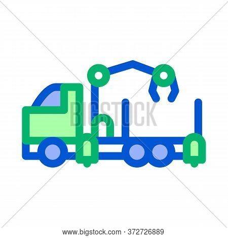 Manipulator Truck Icon Vector. Manipulator Truck Sign. Color Symbol Illustration