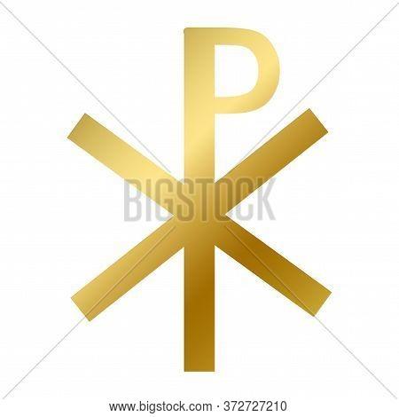 Chi Rho Symbol Isolated Christianity Religion Sign