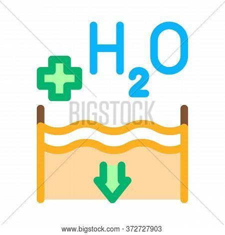 Juice Add Water Icon Vector. Juice Add Water Sign. Color Symbol Illustration