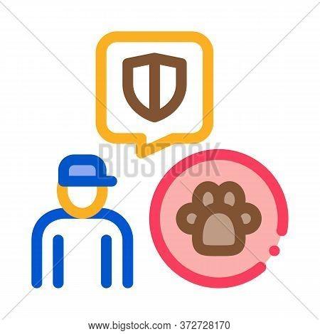 Animal Defender Protector Icon Vector. Animal Defender Protector Sign. Color Symbol Illustration