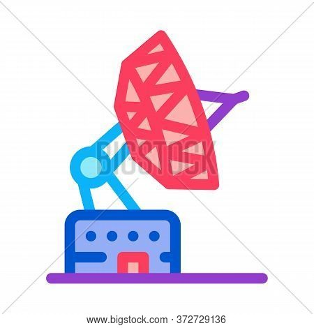 Air Navigation Radar Icon Vector. Air Navigation Radar Sign. Color Symbol Illustration