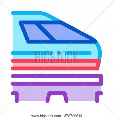 Electromagnetic Train Icon Vector. Electromagnetic Train Sign. Color Symbol Illustration
