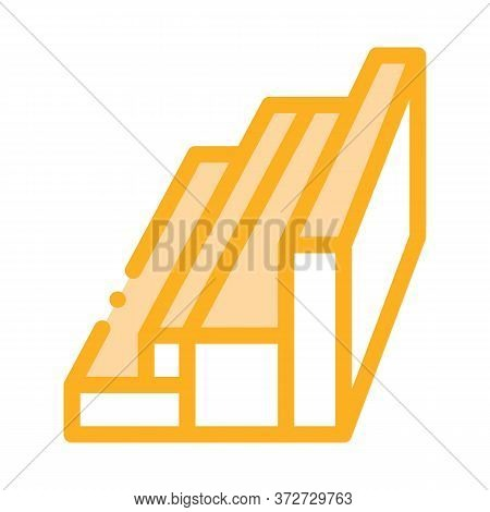 Wood Planks Different Sizes Icon Vector. Wood Planks Different Sizes Sign. Color Symbol Illustration