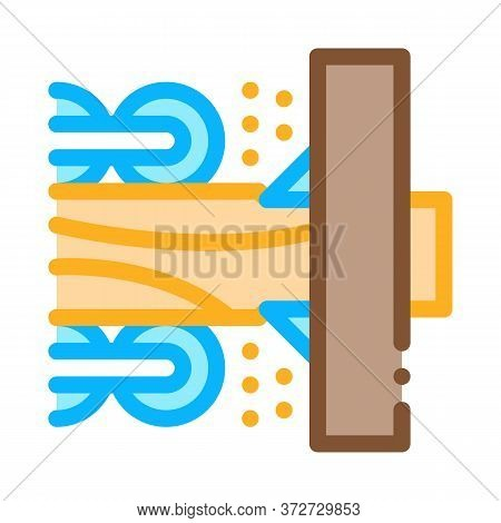 Wood Trunk Grinding Icon Vector. Wood Trunk Grinding Sign. Color Symbol Illustration
