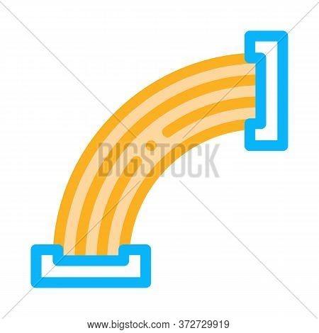 Wood Form Making Machine Icon Vector. Wood Form Making Machine Sign. Color Symbol Illustration