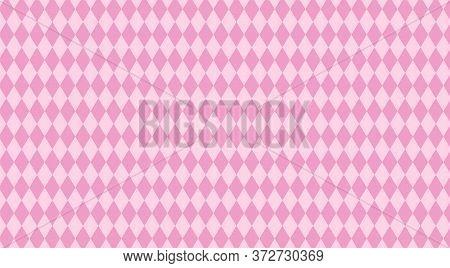 Pink Rhombus Pattern For Background, Geometric Rhombus Style